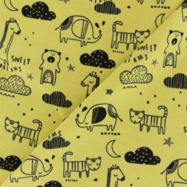 Poppy Jersey fabric - yellow Sweet dreams x 10cm