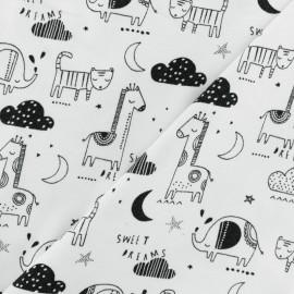Tissu jersey Poppy Sweet dreams - blanc x 10cm