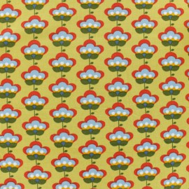 Poppy Dotted Jersey fabric - Yellow Nina x 10cm