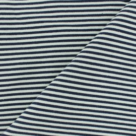 French Terry fabric - Navy Blue Granville x 10cm