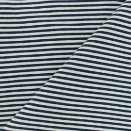 Tissu sweat léger Granville - Bleu marine x 10cm