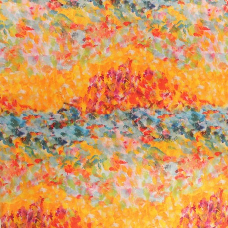 Outdoor canvas fabric - Yellow Giverny x 10cm