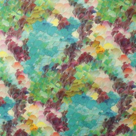 Tissu Toile Transat Maussanne - bleu x 10cm