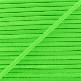 3 mm Elastic Cord - Silver/Black Vaguelette x 1m