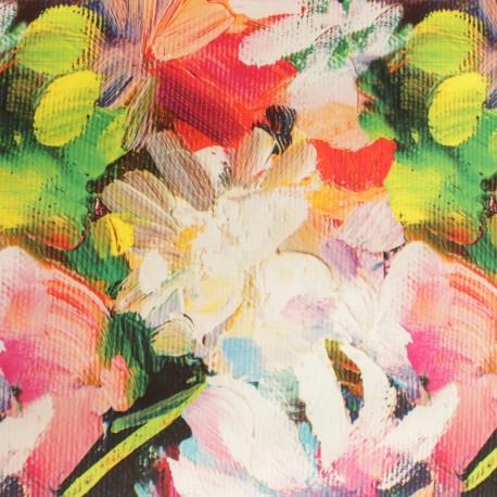 Outdoor canvas fabric - Pink Manosque x 10cm