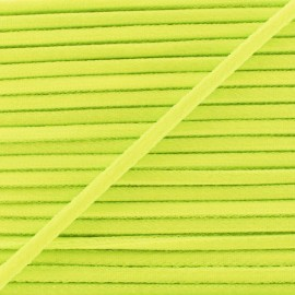Cordon Élastique Fluo 5 mm - Jaune x 1m