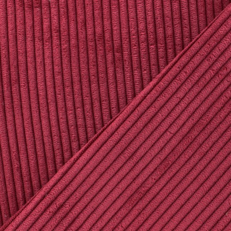 Lisboa corduroy fabric - red x 10cm