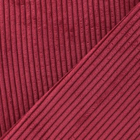 Tissu velours à grosses côtes Lisboa - rouge x10cm
