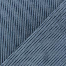 Tissu velours à grosses côtes Lisboa - bleu océan x10cm