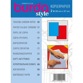 Papier Calque Carbone Burda - Rouge et Bleu