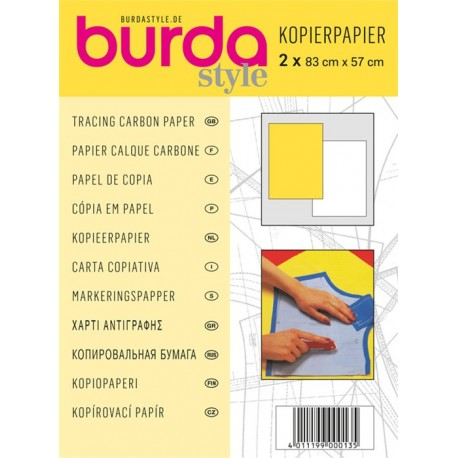 Tracing Carbon paper Burda - yellow/white