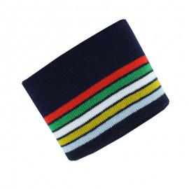 Poppy Ribbing Cuffs (150x7cm) - Navy Blue Multico