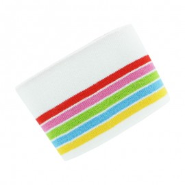 Poppy Ribbing Cuffs (150x7cm) - Off White Multico