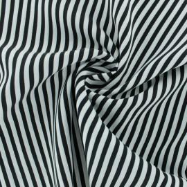 Tissu Viscose rayé Charline - noir x 10cm
