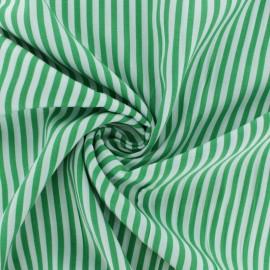 ♥ Coupon 20 cm X 135 cm ♥ Striped Viscose fabric - Green Charline