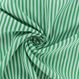 Striped Viscose fabric - Green Charline x 10cm