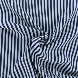 Tissu Viscose rayé Charline - bleu marine x 10cm