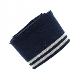 Poppy Ribbing Cuffs (150x7cm) - Navy Blue Duo