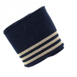 Poppy Ribbing Cuffs (150x7cm) - Navy Blue Trio