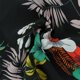 Tissu Viscose rayé Charline - vert x 10cm