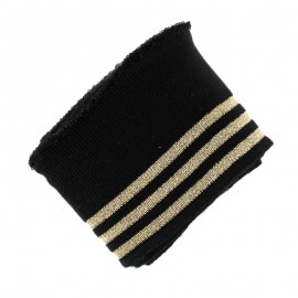 Poppy Ribbing Cuffs (150x7cm) - Black Trio