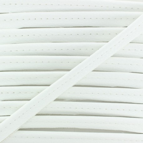 Faux Leather Piping - Off White Leka x 1m