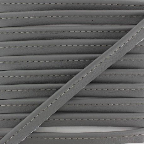 Faux Leather Piping - Grey Leka x 1m