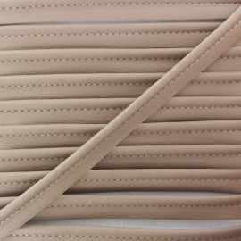 Faux Leather Piping - Café au Lait Leka x 1m