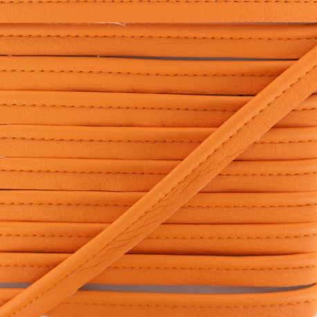 Faux Leather Piping - Orange Leka x 1m