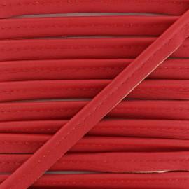Passepoil Simili Cuir Leka - Rouge x 1m