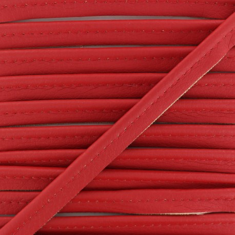 Faux Leather Piping - Red Leka x 1m
