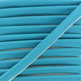 Faux Leather Piping - Turquoise Leka x 1m