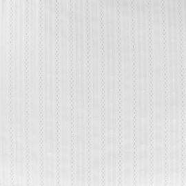 Tissu coton brodé Alexia - blanc x 10cm