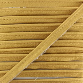 Metallic Aspect Faux Leather Piping - Gold Leka x 1m