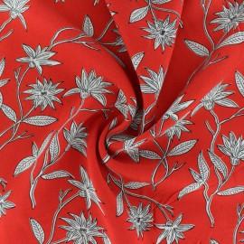 Tissu Viscose Surabaya - rouge x 10cm