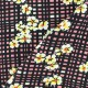 Flowery Crepe fabric - red Vivianne x 10cm
