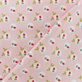 Tissu coton popeline Poppy Eglantine - rose x 10cm