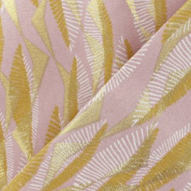 Cotton fabric - pink/gold Massimo x 10cm