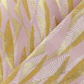 Tissu coton épais Massimo - rose/doré x 10cm
