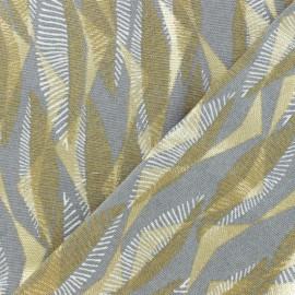 Tissu coton épais Massimo - gris/doré x 10cm