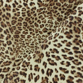 Simili cuir Leopard de Ceylan - marron x 10cm