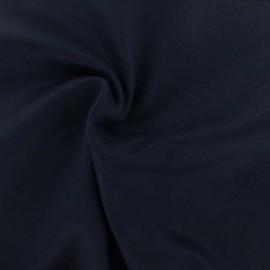 ♥ Coupon 10 cm X 150 cm ♥ Tissu laine et cachemire Luxe - bleu marine