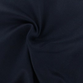 Luxury Cashmere and Wool fabric - navy blue x 10cm