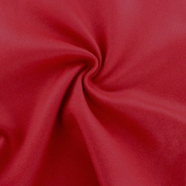 Luxury Cashmere and Wool fabric - red x 10cm