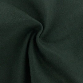Tissu laine et cachemire Luxe - vert sapin x 10cm