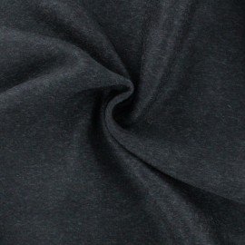 ♥ Coupon 10 cm X 150 cm ♥ Luxury Cashmere and Wool fabric - Dark grey