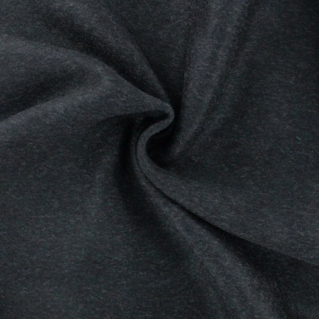 Luxury Cashmere and Wool fabric - Dark grey x 10cm