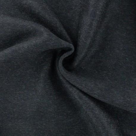 Luxury Cashmere and Wool fabric - Dark grey x 10cm