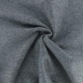♥ Coupon 35 cm X 150 cm ♥ Tissu laine et cachemire Luxe - Gris chiné