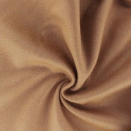 ♥ Coupon 30 cm X 150 cm ♥  Luxury Cashmere and Wool fabric - Camel beige